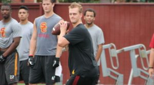 Max Browne in action at summer workouts