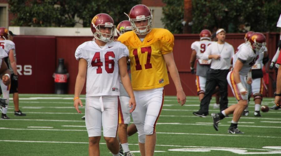 Jake Olson with Reid Budrovich